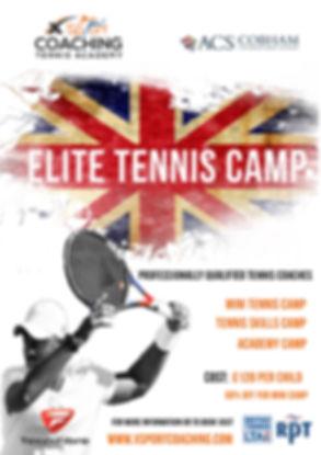 xSport Tennis Camp Flyer 2018