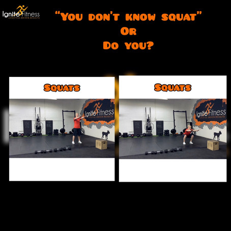 """You don't know squat"" or do you?"
