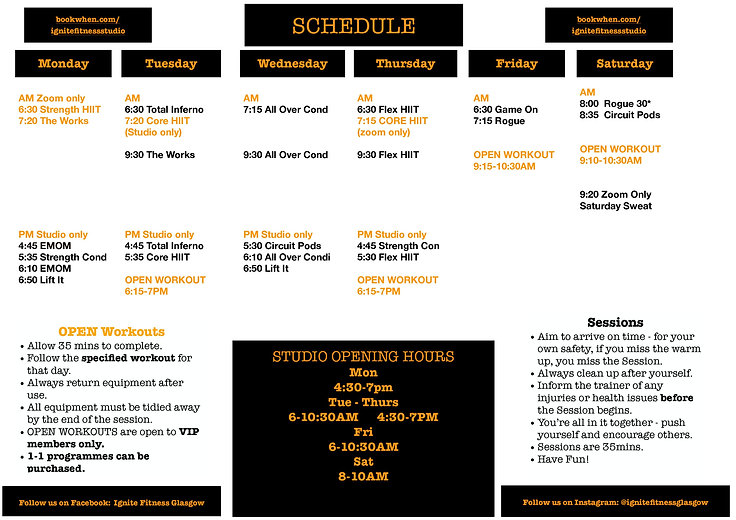 2021 SESSION SCHEDULE