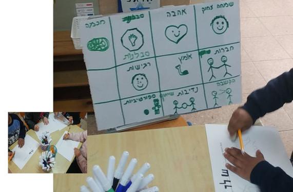 הילדים יוצרים סמלי איכויות - קסמים שבלב