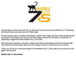 2020 Marble City 7s Cancelled