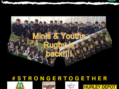 Minis & Youths rugby is Back!!!!