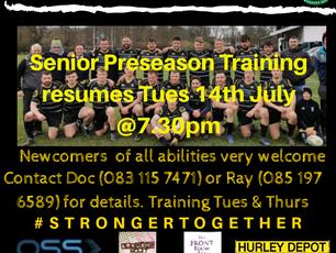 Senior Preseason Training returns