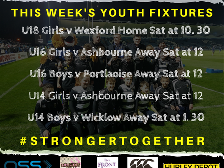 Youths Fixtures - Feb 22nd