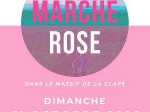 Marche rose dans le massif de la Clape