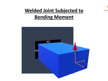 WELDED JOINT SUBJECTED TO BENDING MOMENT