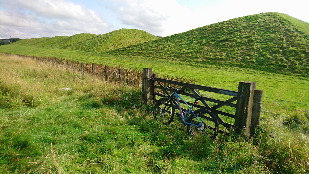 Bike at the Pyramids, West Lothian