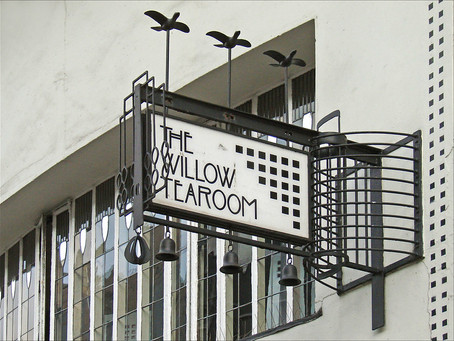What do the Willow Tea Rooms in Glasgow have in common with East Calder?