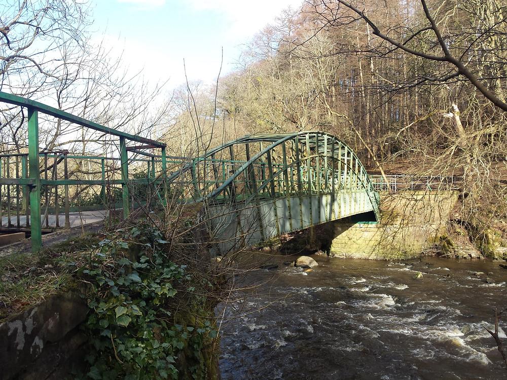 Iron Bridge Aquaduct takes the feeder over the Almond