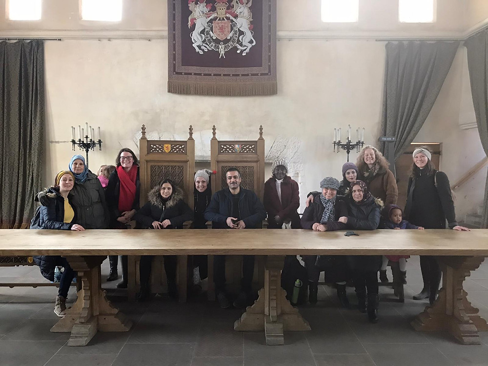 New Scots visiting Stirling Castle (pre social distancing)