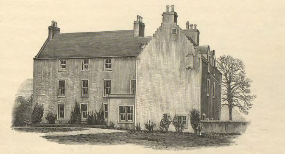 Sketch of Alderstone House, from The History and Antiquities of the Parish of Mid Calder, by Hardy Bertram M'Call. Published 1894.