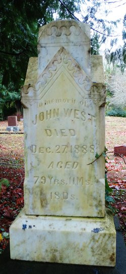 John West's headstone in West Port Cemetery