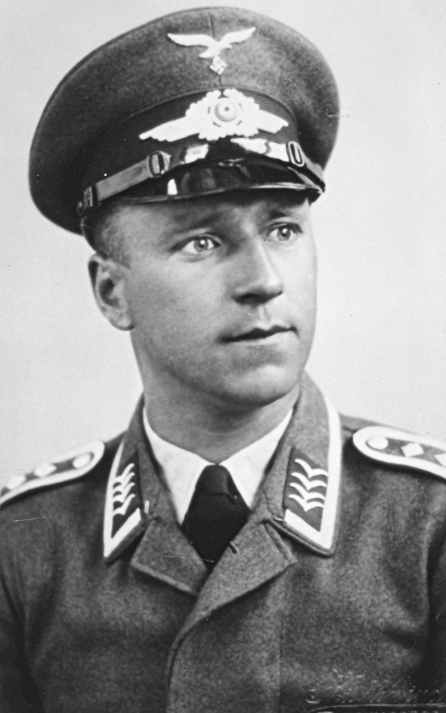 A photograph of the pilot, Fritz Forster reveals an earnest looking man.