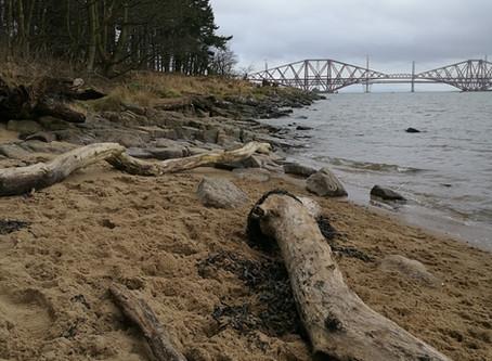 Shore walk at Dalmeny