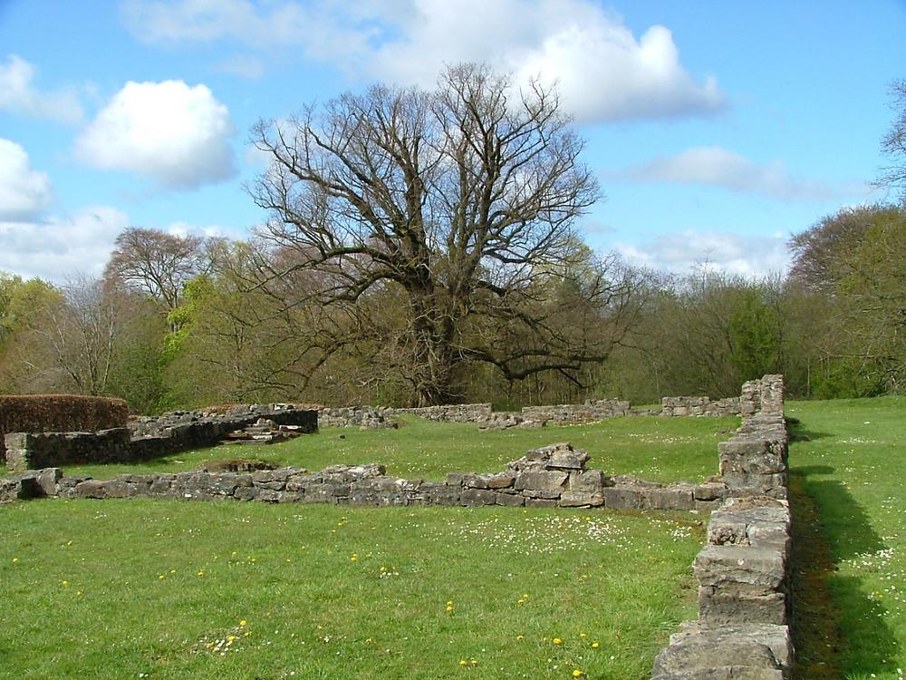 Re-created ruins of Livingston Place, Peel Park, Livingston