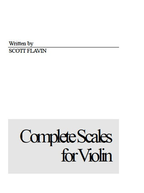 Complete Scales for Violin - pdf download