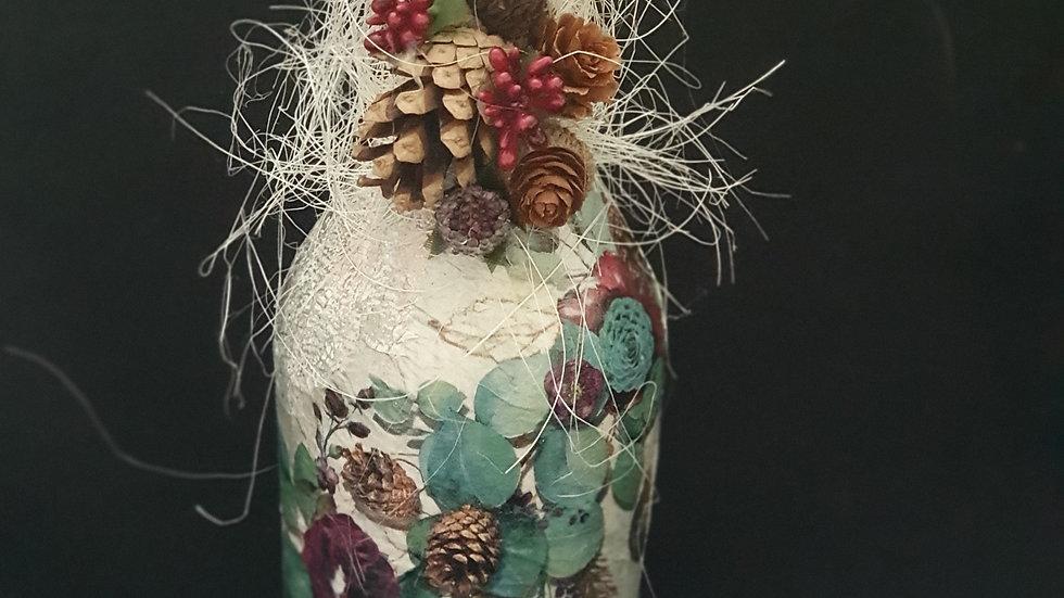 Xmas Decorated Wine Bottle