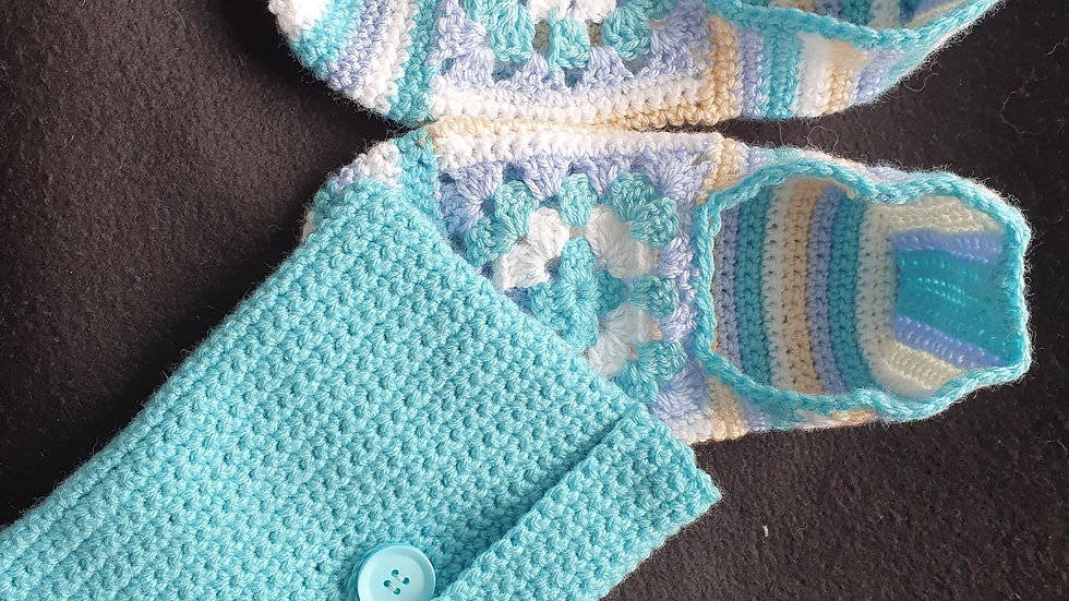 Crochet Summer Slippers With Pouch