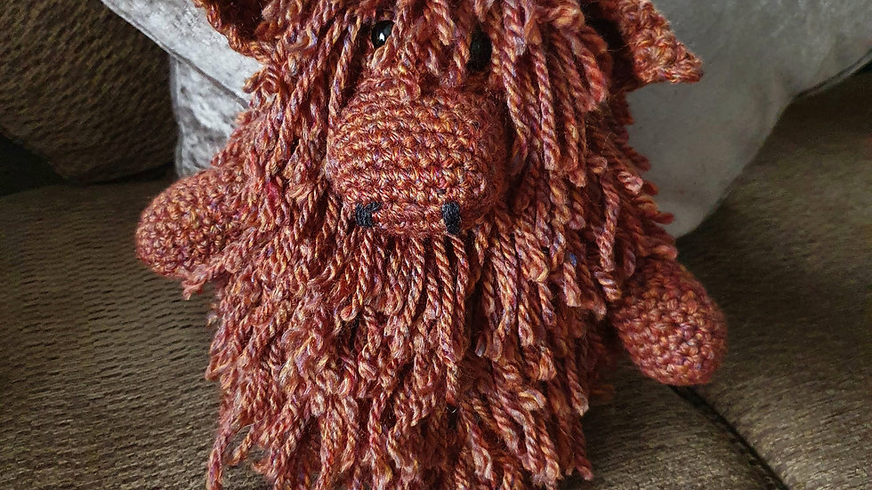 Crochet Highland Cow Doorstop