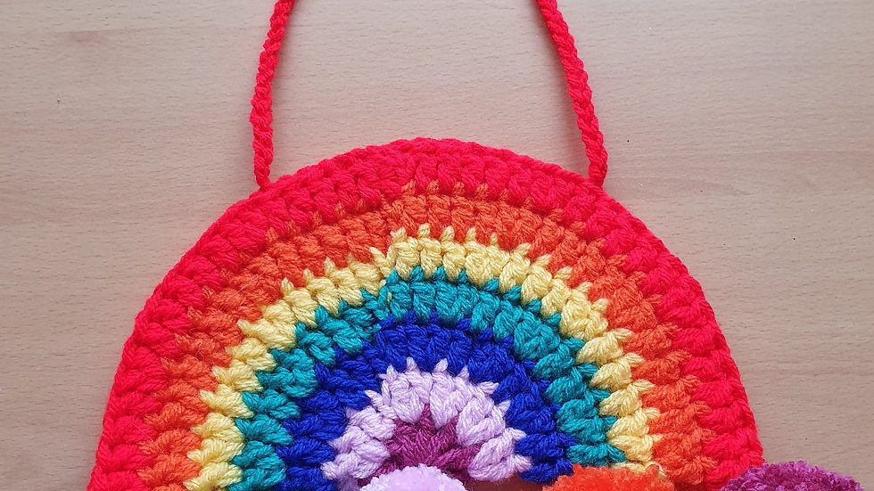 Crochet Rainbow of Hope.Made to Order