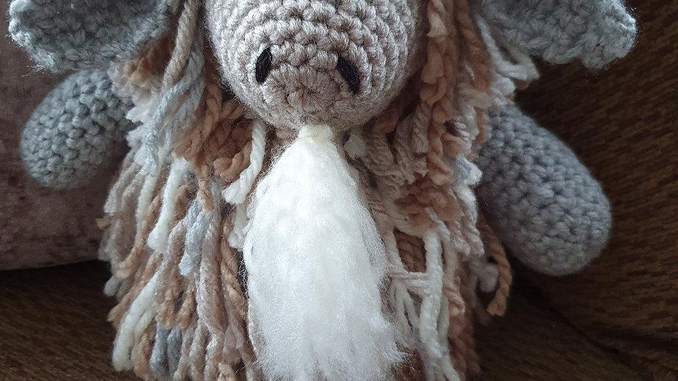 Crochet Mountain Goat Doorstop Made to Order