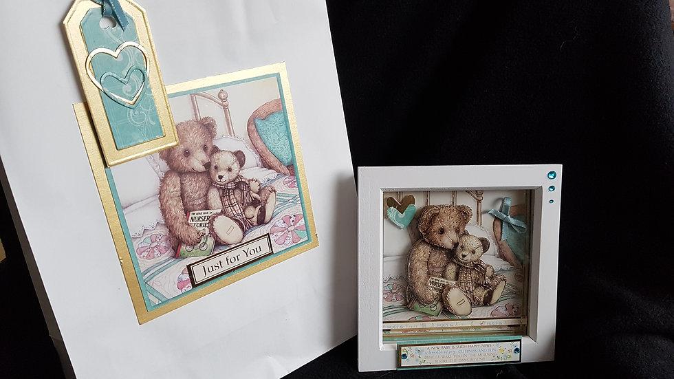 Nursery Decoupage Frame and Bag