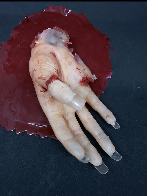 Real Feel Gory Severed Female Deluxe Hand (With Nails)