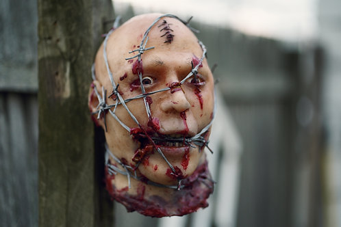 Barbed Wire Silicone Severed Head