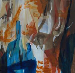 musica,150x150cm, acrilico, vernice