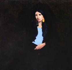 Martina, 2019, olio su tela, 98x98