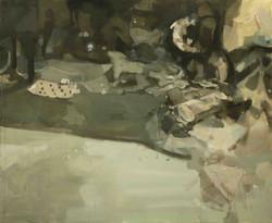il paesaggio del caos#3,140_170cm,olio su tela
