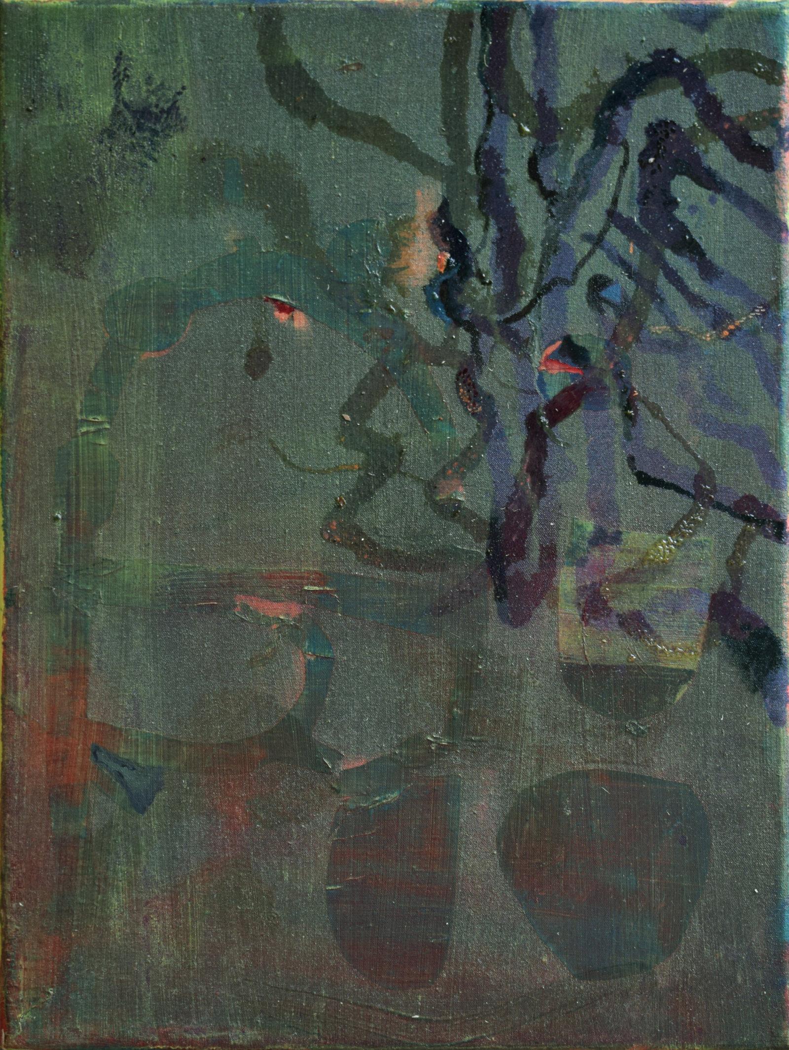 lotta tra due lumache, 40x30 cm, 2018 (F
