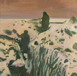 Neve gialla 1 olio su tela 100x100cm