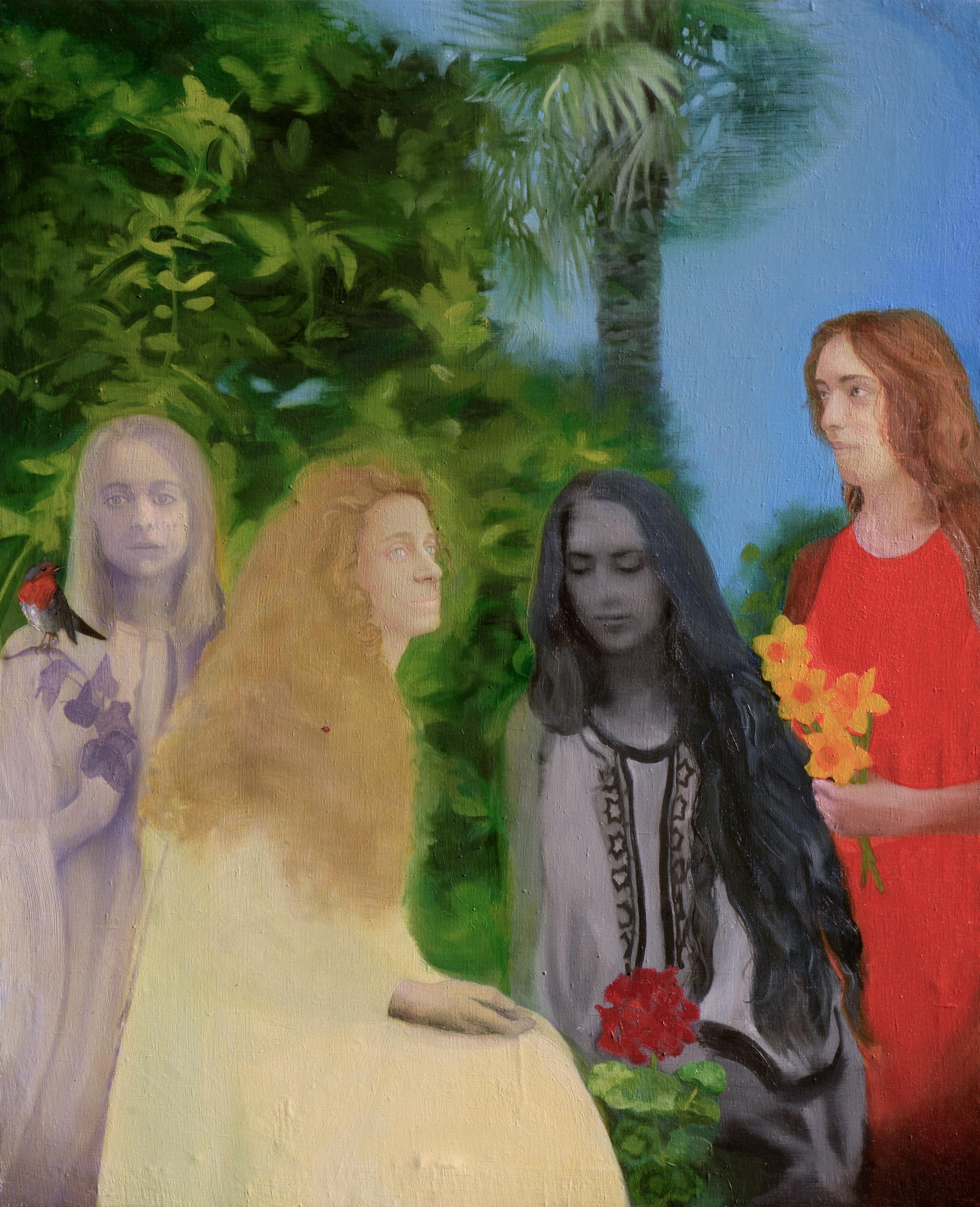 The garden of friendship, 2018, olio