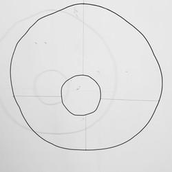 XXX V- ferro e filo di cotone- 82X88cm