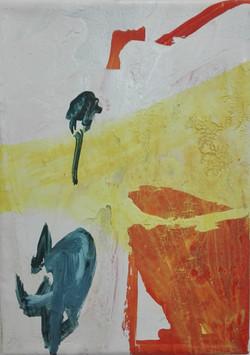 senza titolo, 24x15,acrilico, vernice su
