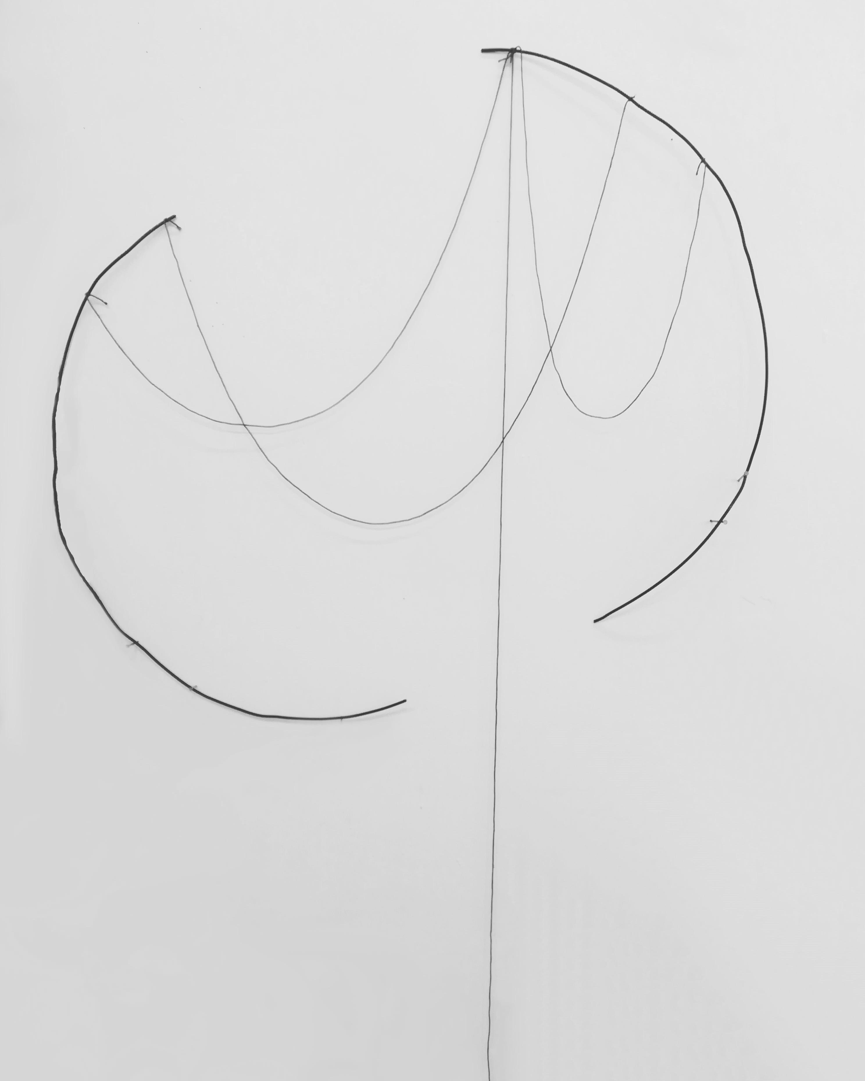 XXX IV- ferro e filo di cotone- 176X87cm