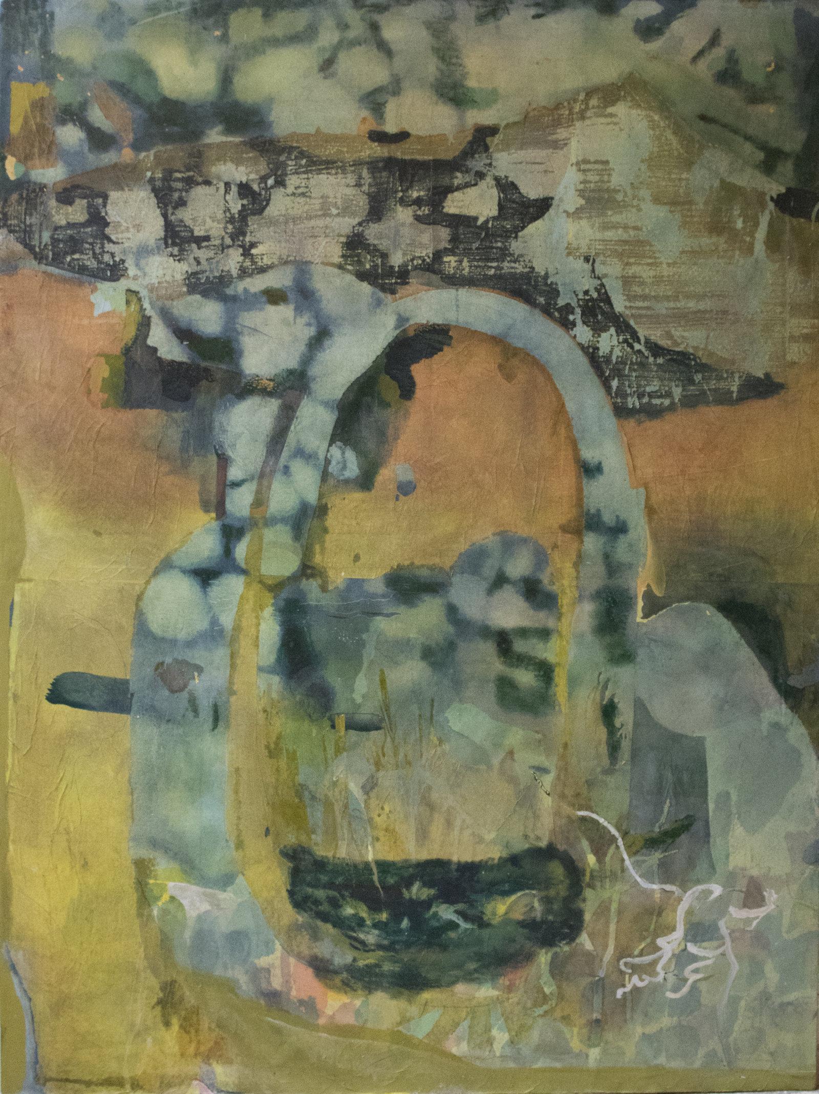 Marmorizzato,160x130 , acrilico collage