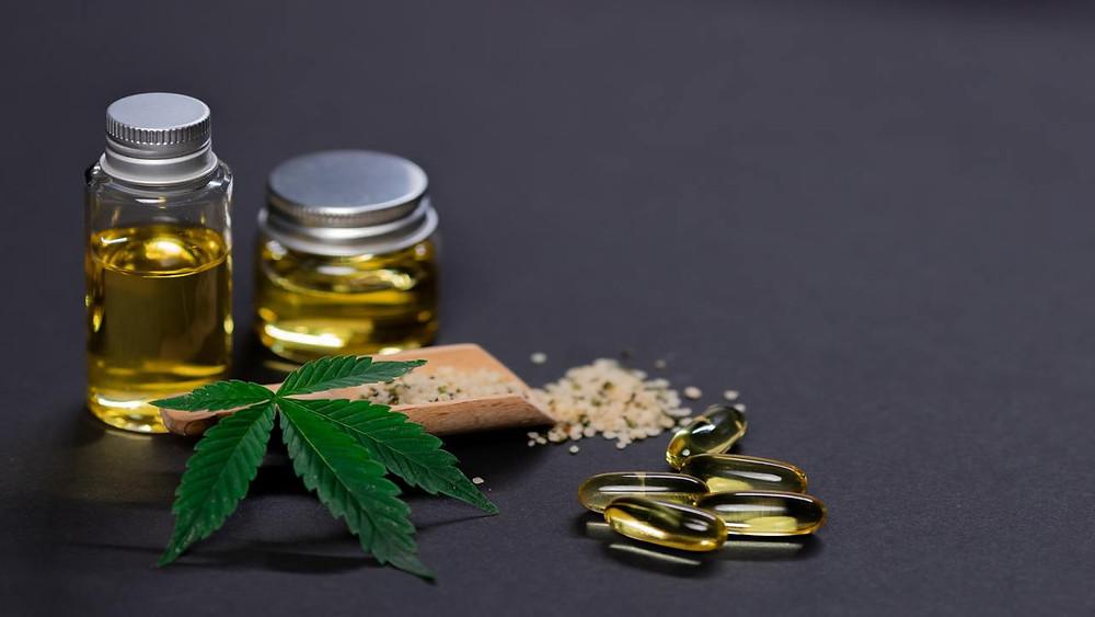 hemp oil, peels, plant
