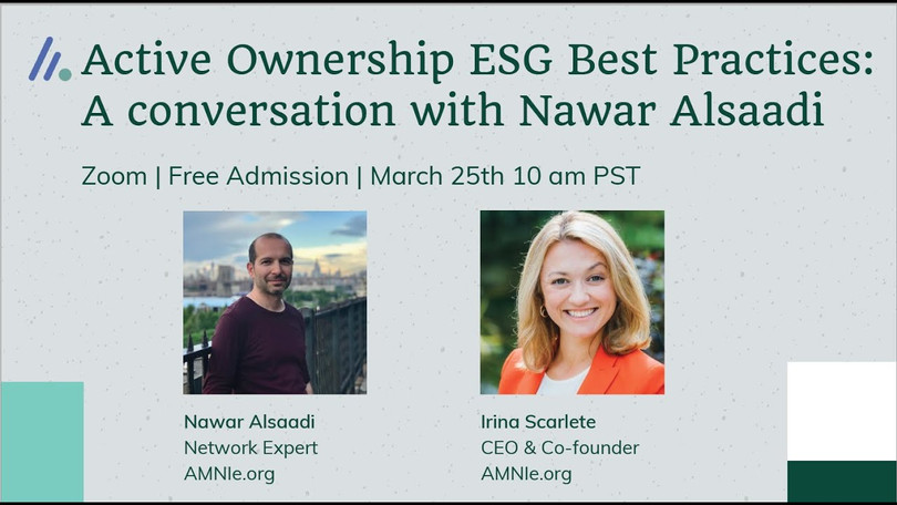 Active Ownership ESG Best Practices: A conversation with Nawar Alsaadi