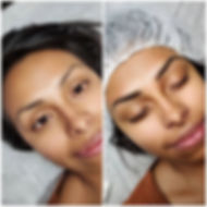 Microblading, each stroke is created by