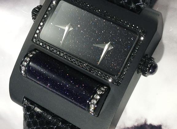 Lézard noir-boite noir-diamant noir-roul