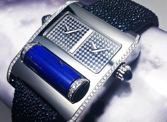 Galuchat marine-boite blanche-diamant sa