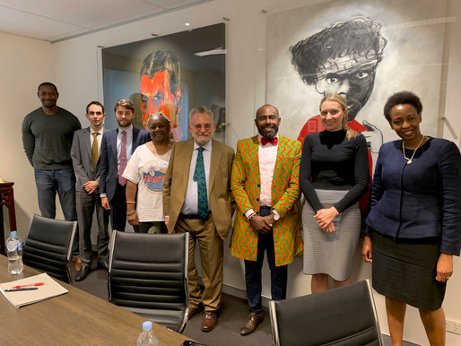 Solidarity Meeting at Levitt Robinson with the High Commissioner of Vanuatu.