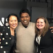 BeiBei Song, DP Prakash and Lisa Sibilia