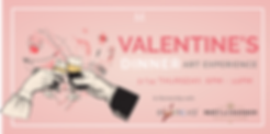 Valentine's with improv art dinner champagne