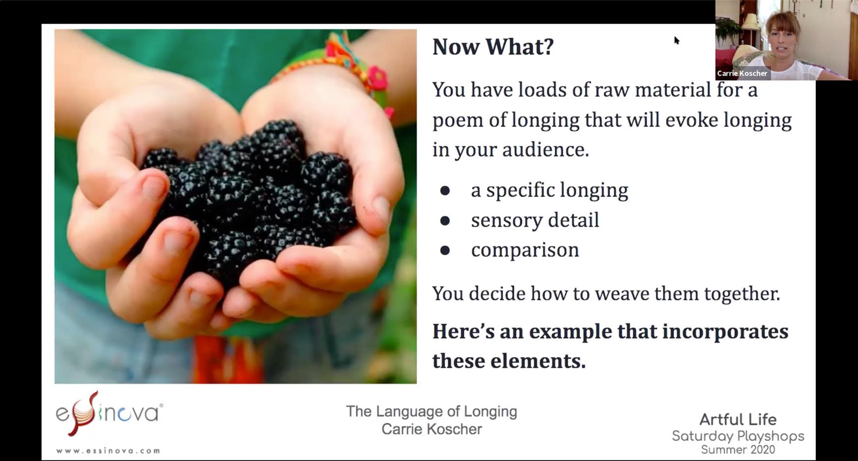 Artful Life 2020 Session 3: The Language of Longing