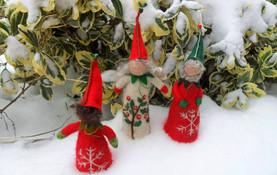 Christmas Felt Elf Figure