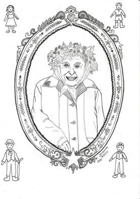 Illlustration Violets 90th Birthday