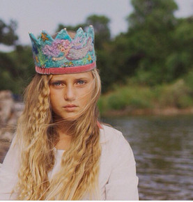 Beautiful and unique felt crown